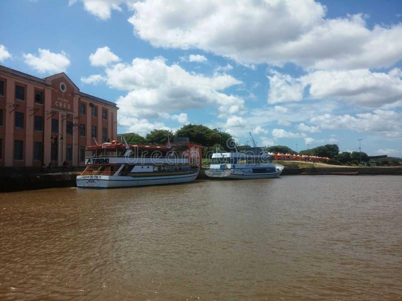 Schöne Küste in Porto Alegre stockfoto