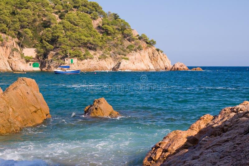Schöne Küstenlinie lizenzfreies stockfoto