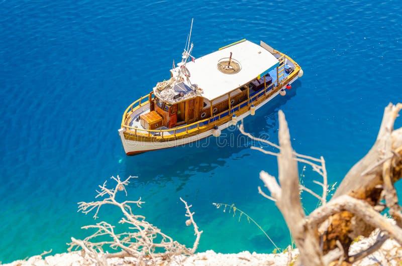 Schöne Küstenlinie auf Makarska Riviera, Dalmatien, Kroatien stockbild