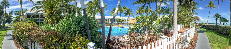 Schöne Küstenlinie von Key West, Panoramablick von Florida-Schlüsseln stockbilder