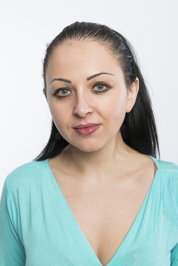 Schöne kaukasische Frau stockbild