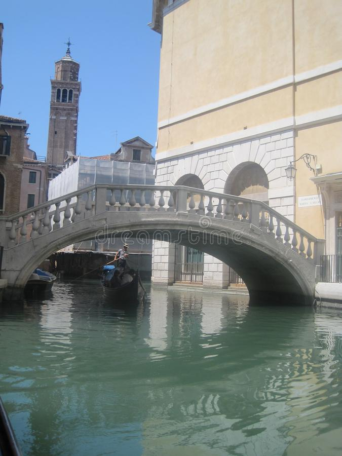 Schöne Kirchen von Venedig im Sommer stockbild