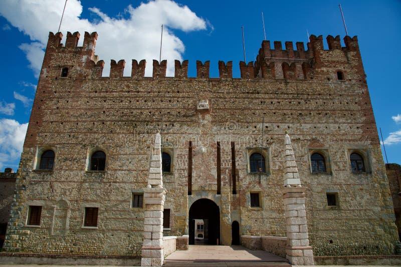 Schöne kleine Stadt Marostica Vicenza in Italien berühmt für Künste und Geschichte lizenzfreie stockfotografie