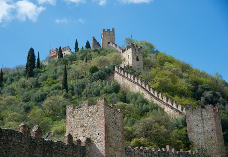 Schöne kleine Stadt Marostica Vicenza in Italien berühmt für Künste und Geschichte lizenzfreie stockfotos