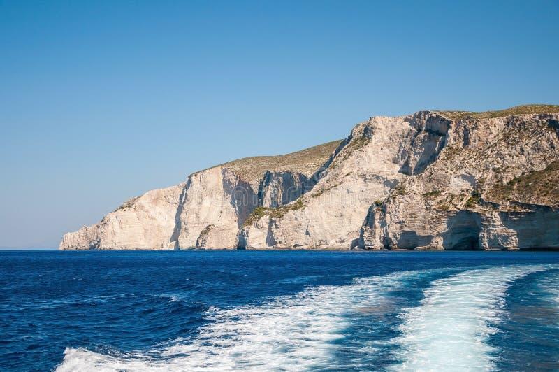 Schöne Klippenküste von Zakynthos-Insel stockbilder