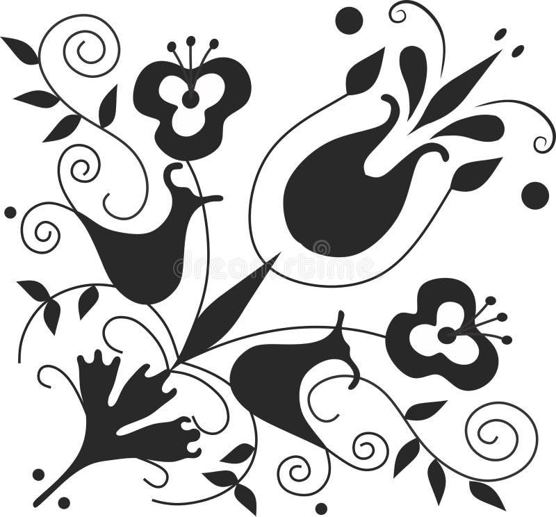 Schöne Kunst von Blumen lizenzfreies stockbild