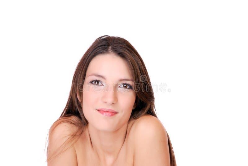 Schöne lächelnde Frau stockbilder