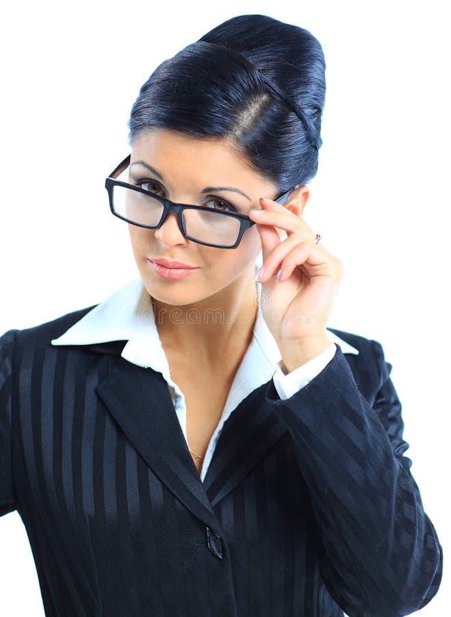 Schöne lächelnde Geschäftsfrau lizenzfreie stockfotografie