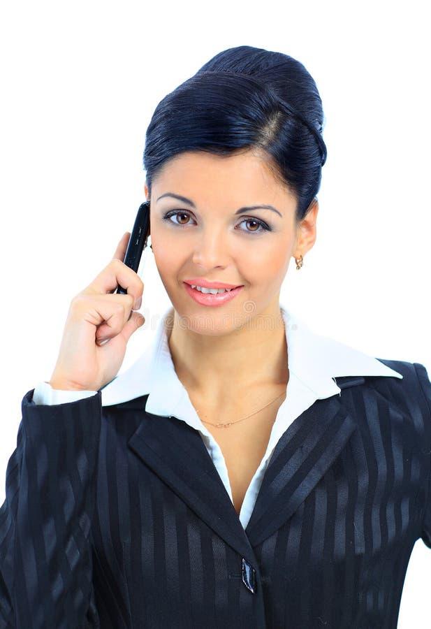 Schöne lächelnde Geschäftsfrau lizenzfreies stockbild