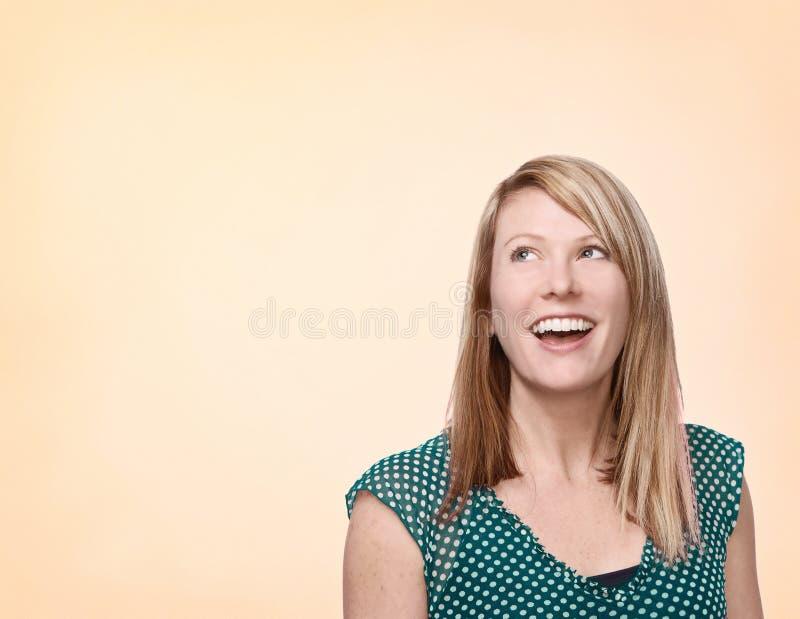 lachende Frau stockbild