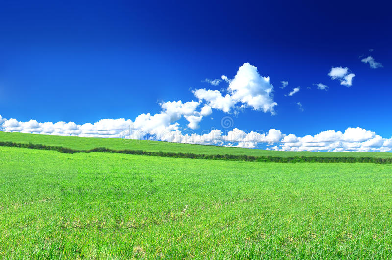 Schöne Landansicht stockfotos
