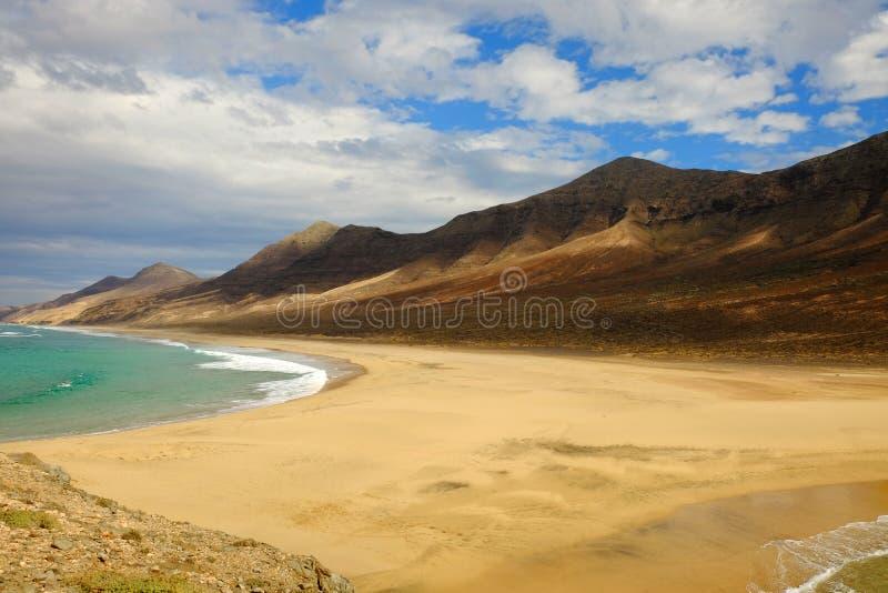 Schöne Landschaft auf der Kanarischen Insel Fuerteventura, Spanien lizenzfreie stockfotos