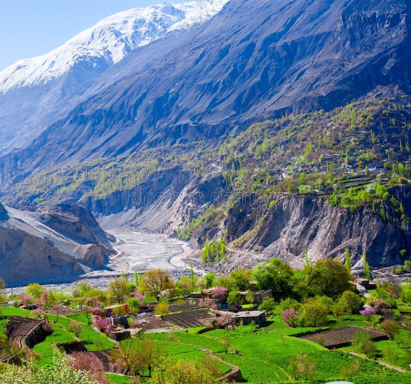 Schöne Landschaft der Jahreszeit Hunza-Tales im Frühjahr lizenzfreies stockfoto