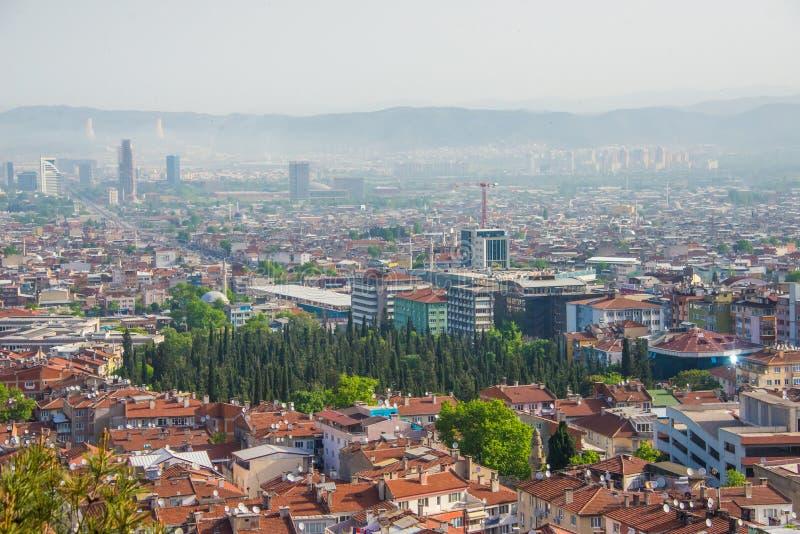 Schöne Landschaft der Stadt Bursa, die Türkei lizenzfreie stockfotos