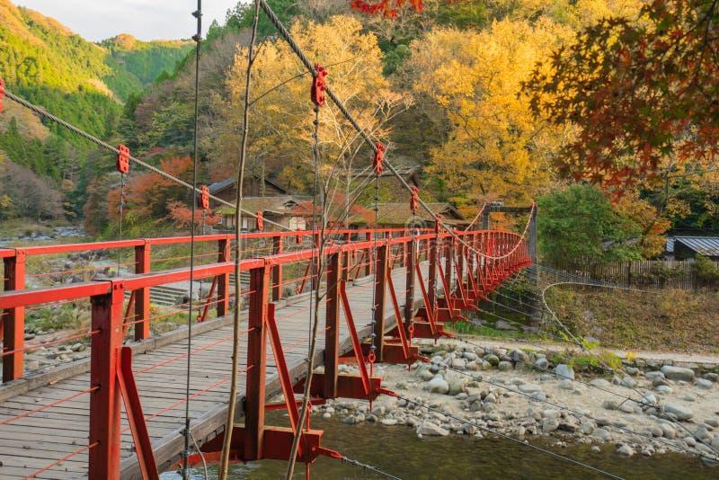 Schöne Landschaft im Herbst bei Korankei, Japan lizenzfreies stockfoto