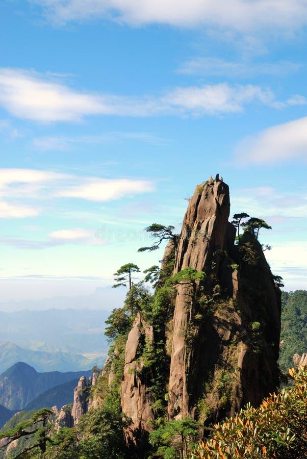 Schöne Landschaft im SanQing Berg lizenzfreie stockfotografie