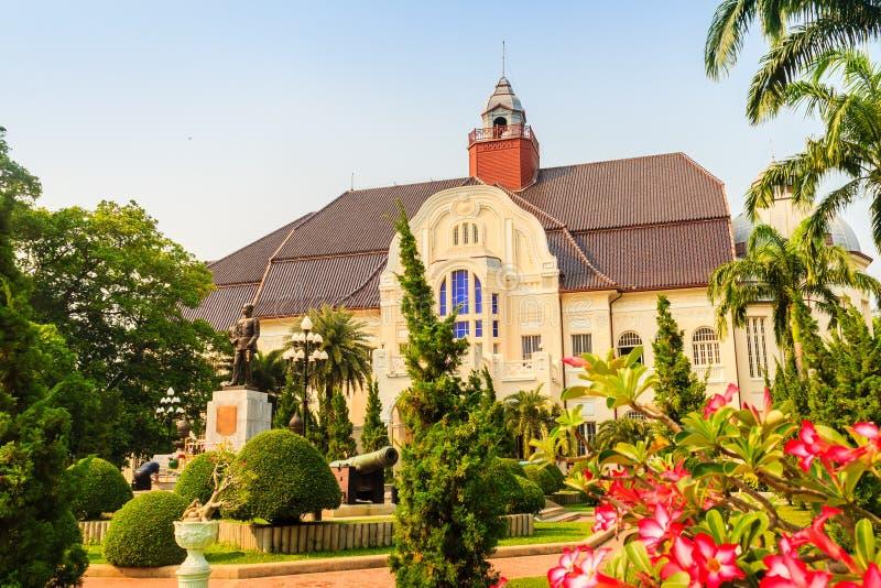 Schöne Landschaft und Architektur von Phra Ramratchaniwet Pala stockfoto