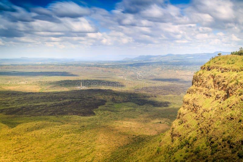 Schöne Landschaft von Menengai-Krater, Nakuru, Kenia lizenzfreie stockfotografie