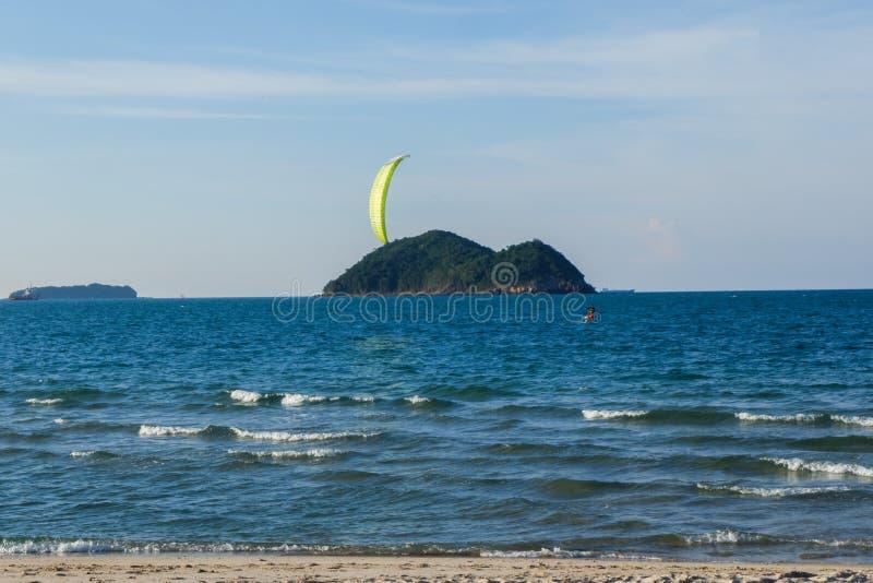 Schöne Landschaft von Samila-Strand in Thailand stockbild