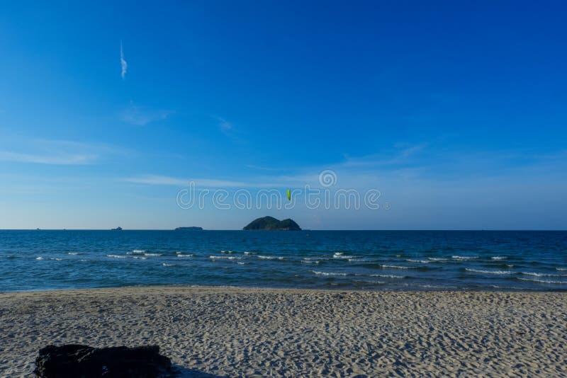 Schöne Landschaft von Samila-Strand in Thailand lizenzfreies stockfoto
