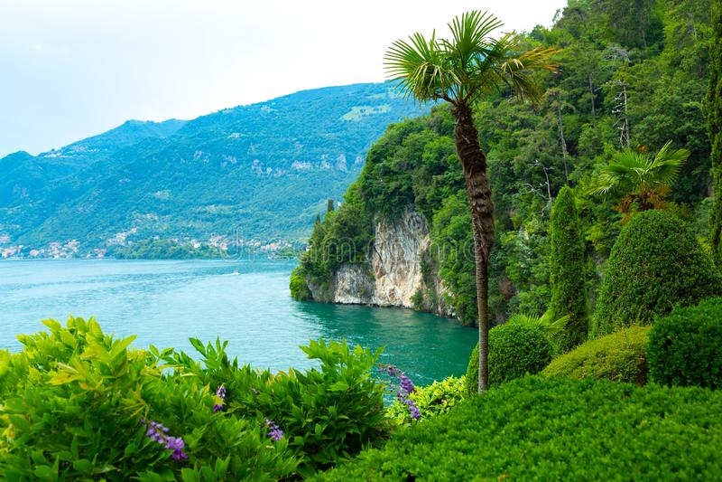 Schöne Landschaft von See Como, Lombardei, Italien stockbild