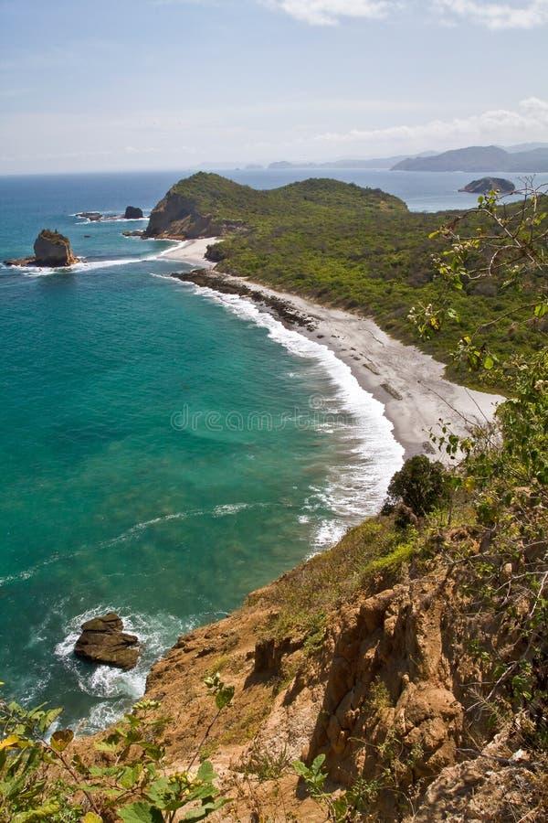 Schöne Landschaft von Strand Los Frailes herein lizenzfreies stockfoto