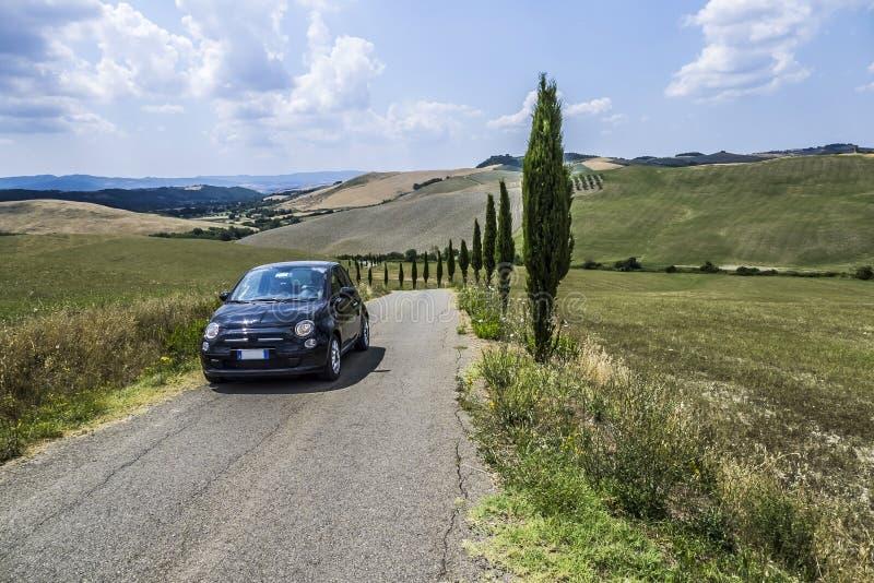 Schöne Landschaft von Toskana stockfotografie