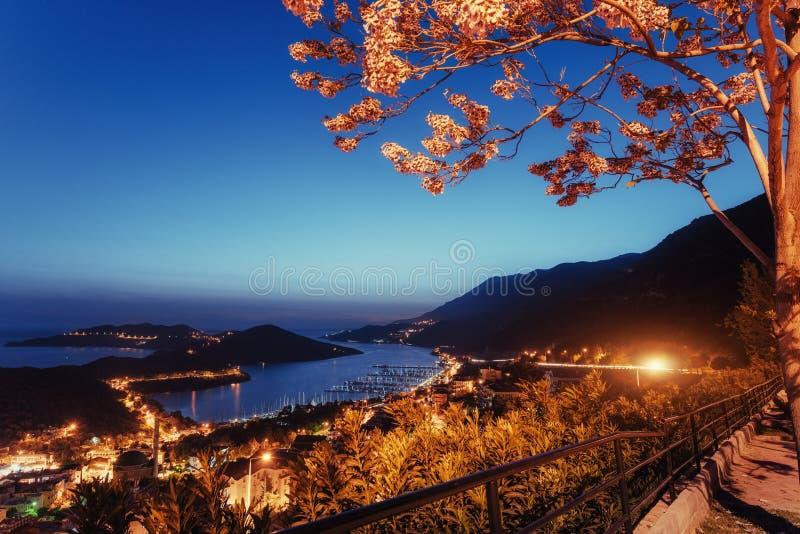 Schöne Landschaftslampen und -felsen entlang dem Küstenlandstraße alon lizenzfreie stockfotografie