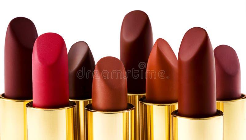 Schöne Lippenstifte auf Weiß lizenzfreie stockfotos