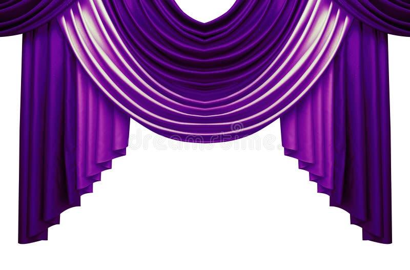 Schöne Luxusvorhänge lokalisiert auf weißem Hintergrund lizenzfreie stockfotos