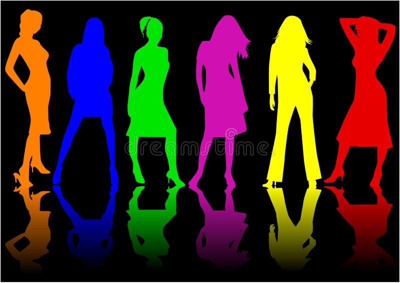 Schöne Mädchen - Farbe vektor abbildung