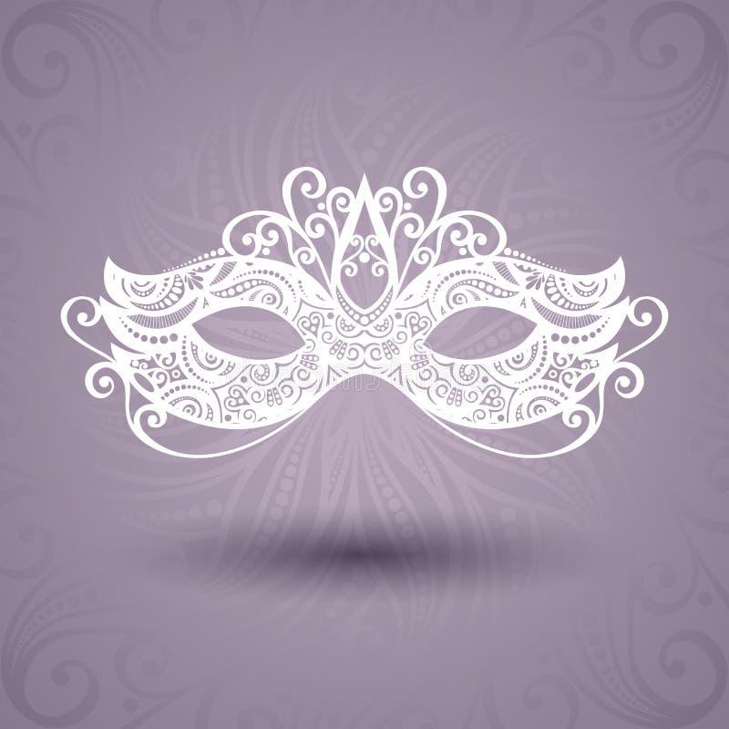 Schöne Maskerade-Maske (Vektor) lizenzfreie abbildung