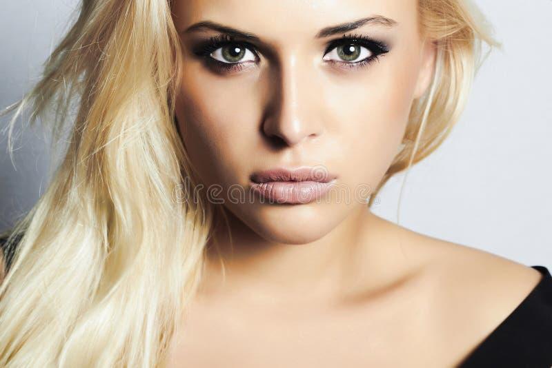 Schöne Mode blondes woman.beauty girl.make-up stockbild