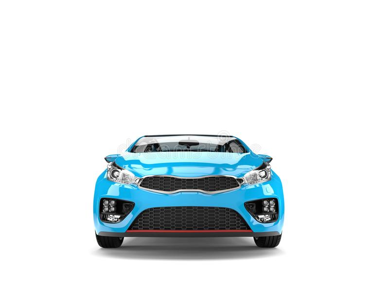 Schöne moderne elektrische Motor- Vorderansicht des Himmelblaus lizenzfreie abbildung