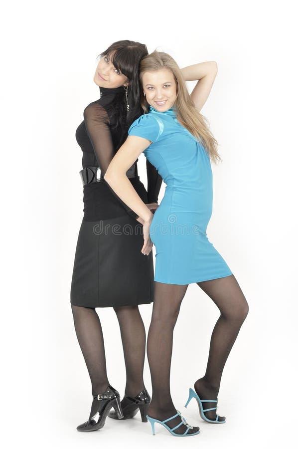 Schöne Mutter und Tochter stockfotos
