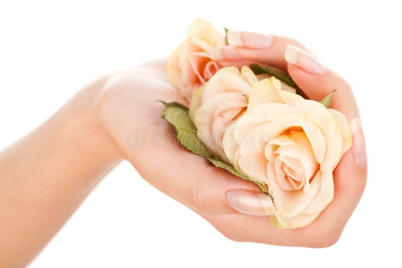 Schöne Nägel und Finger lizenzfreie stockbilder