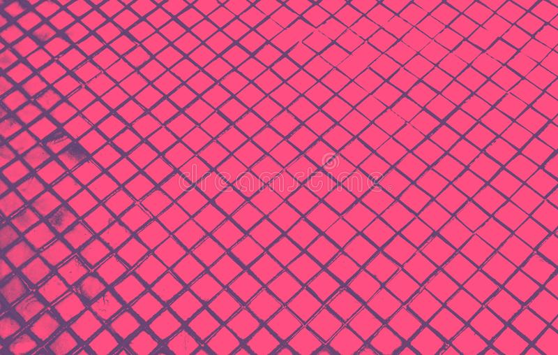 Schöne Nahaufnahme masert abstrakte Fliesen und dunklen schwarzen rosa Farbglasmusterwandhintergrund und Kunsttapete stock abbildung