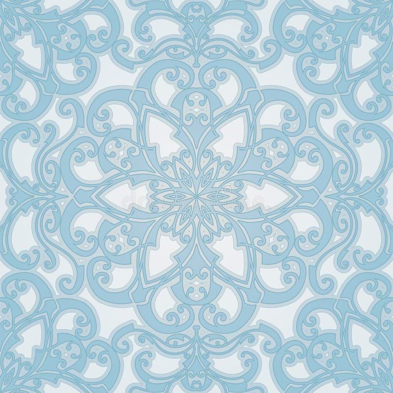 Schöne natürliche nahtlose geometrische Flieseauslegung stock abbildung