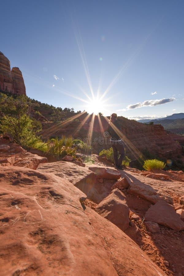 Schöne Natur in Sedona, Stadt Arizona Tourismus in den Vereinigten Staaten von Amerika stockfotos