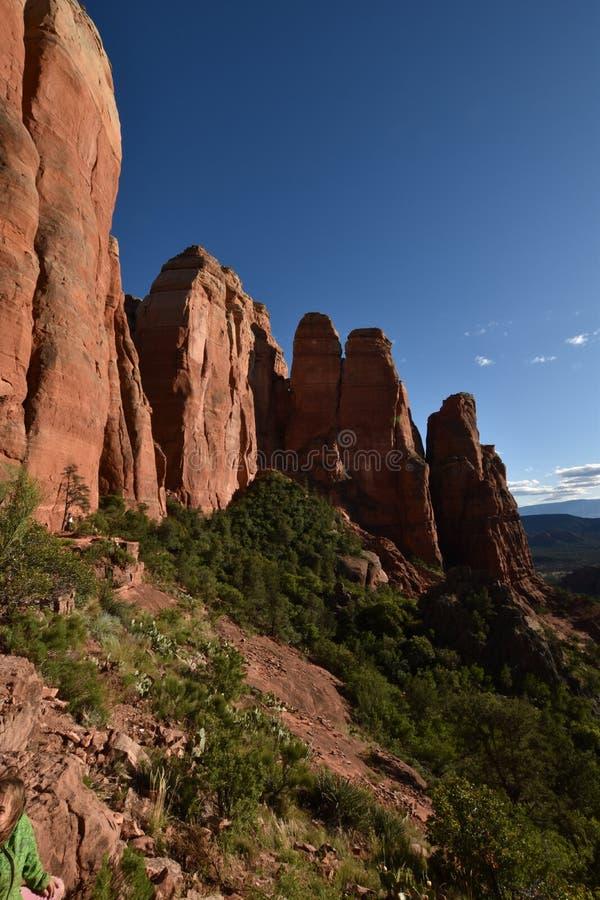 Schöne Natur in Sedona, Stadt Arizona Tourismus in den Vereinigten Staaten von Amerika stockbilder