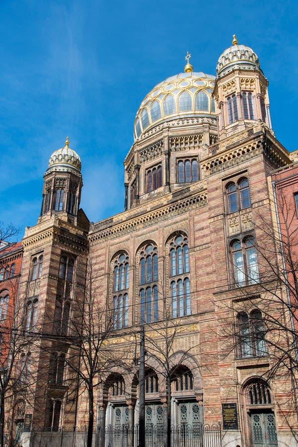 Schöne neue Synagoge in Berlin stockbild