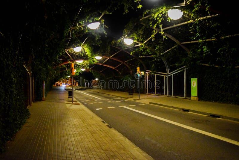 Schöne Park-Straße stockfotografie