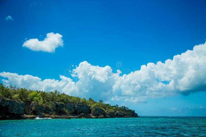 Schöne Perle von karibischer meeres- Saona-Insel lizenzfreies stockfoto