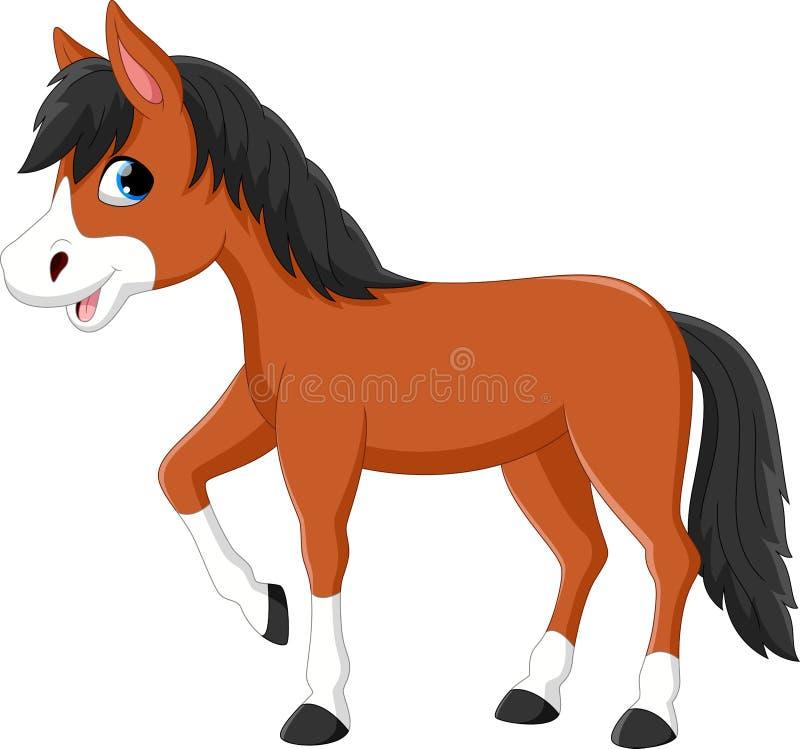 Schöne Pferdekarikatur lizenzfreie abbildung