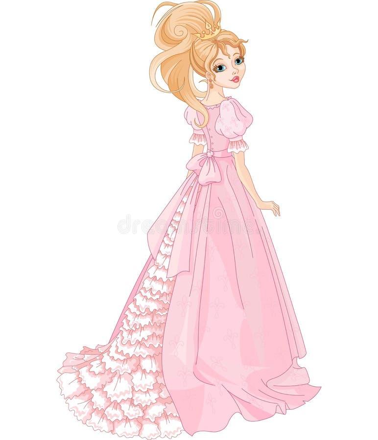 Schöne Prinzessin stock abbildung