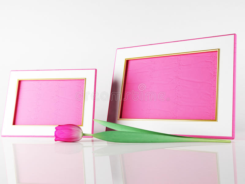 Schöne Rahmen Und Eine Tulpe Stock Abbildung - Illustration von ...
