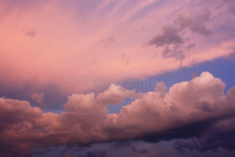 Schöne rosa Himmel stockfotografie