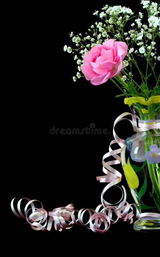 Schöne Rose mit copyspace stockbilder