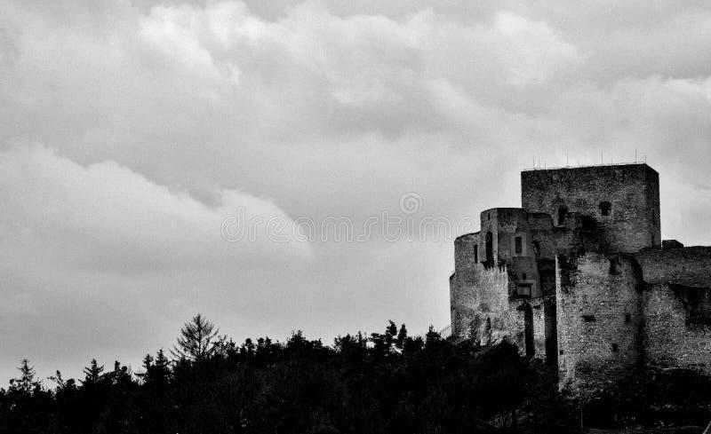 Schöne Ruine in der Tschechischen Republik stockfotos
