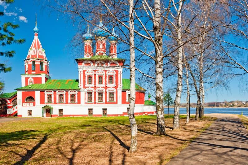 Schöne russische Kirche stockbilder